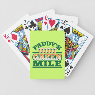 Paddy's GREEN MILE from The Beer Shop Bicycle Playing Cards