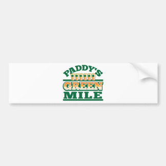 Paddy's GREEN MILE from The Beer Shop Bumper Sticker