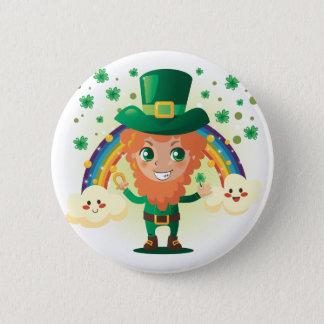 Paddy's Leprechaun Button