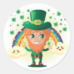 Paddy's Leprechaun Stickers
