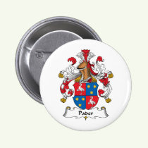 Pader Family Crest Button