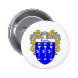 Padilla Coat of Arms/Family Crest (Mantled) Button