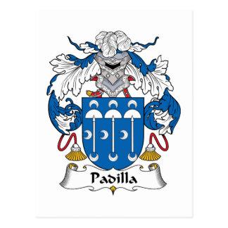 Padilla Family Crest Postcard