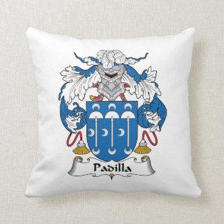 Padilla Family Crest Throw Pillow
