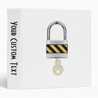 Padlock and Key 3 Ring Binders