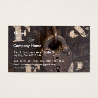Padlock In Old Town San Diego Business Card