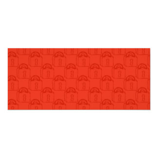 Padlock Pattern. Top Secret or Security. 4x9.25 Paper Invitation Card