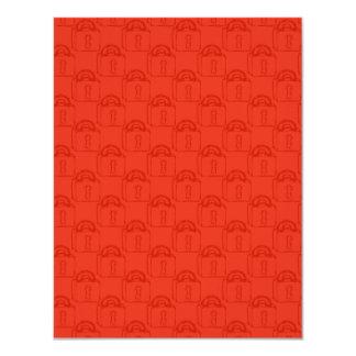 Padlock Pattern. Top Secret or Security. 4.25x5.5 Paper Invitation Card