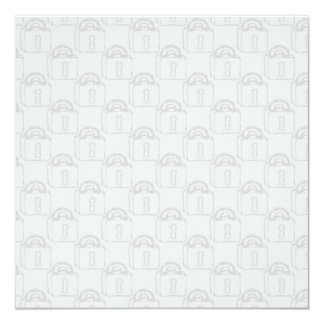 Padlock Pattern. Top Secret or Security. 5.25x5.25 Square Paper Invitation Card
