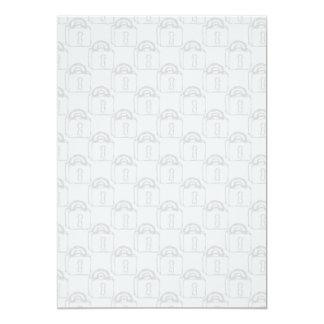 Padlock Pattern. Top Secret or Security. 5x7 Paper Invitation Card