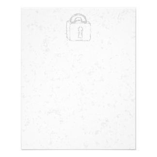 Padlock Sketch. Top Secret or Security. Flyer