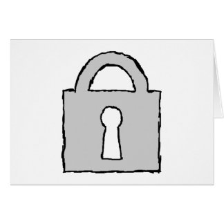 Padlock. Top Secret or Confidential Icon. Greeting Card