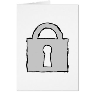 Padlock. Top Secret or Confidential Icon. Card