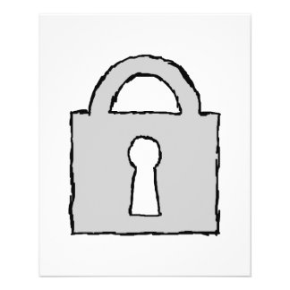 Padlock. Top Secret or Confidential Icon. Flyer