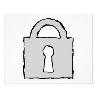 Padlock. Top Secret or Confidential Icon. Custom Flyer