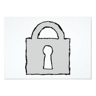 Padlock. Top Secret or Confidential Icon. 5x7 Paper Invitation Card