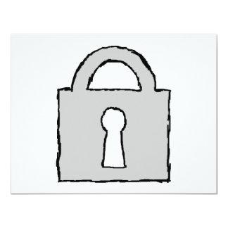 Padlock. Top Secret or Confidential Icon. 4.25x5.5 Paper Invitation Card