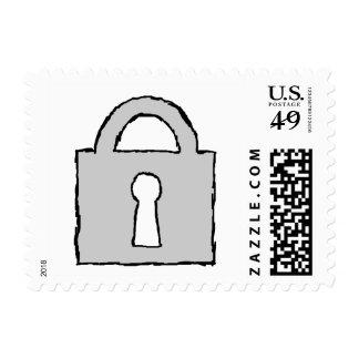 Padlock. Top Secret or Confidential Icon. Stamp