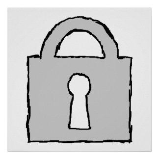 Padlock. Top Secret or Confidential Icon. Poster