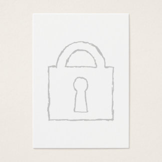 Padlock. Top Secret or Security Icon. Business Card
