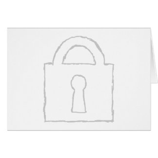 Padlock. Top Secret or Security Icon. Card
