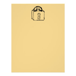 Padlock. Top Secret or Security Icon. Personalized Flyer