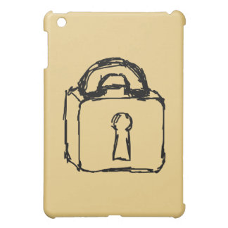 Padlock. Top Secret or Security Icon. iPad Mini Covers