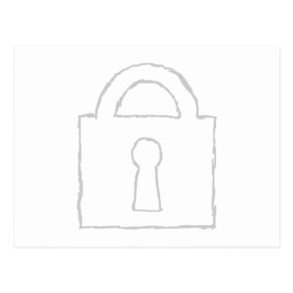 Padlock. Top Secret or Security Icon. Postcard