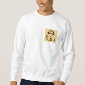 Padlock. Top Secret or Security Icon. Pull Over Sweatshirts
