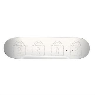 Padlock. Top Secret or Security Icon. Skateboard Deck