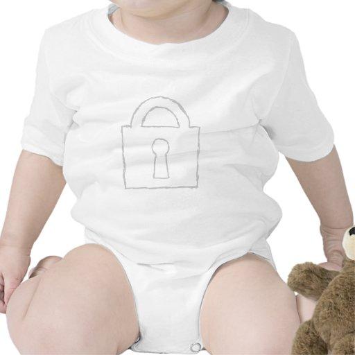 Padlock. Top Secret or Security Icon. Baby Bodysuit