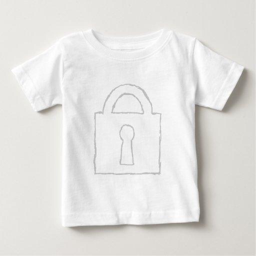 Padlock. Top Secret or Security Icon. Tshirts