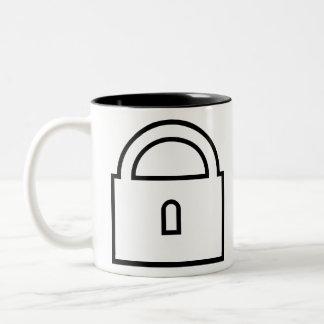 Padlock Two-Tone Coffee Mug