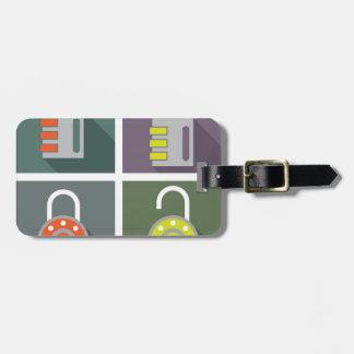 Padlock unlocked locked bag tag