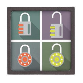 Padlock unlocked locked keepsake box