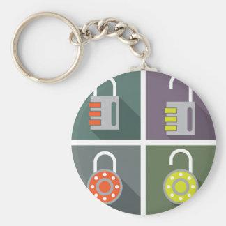 Padlock unlocked locked keychain