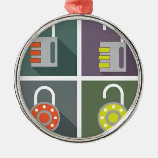 Padlock unlocked locked metal ornament