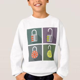 Padlock unlocked locked sweatshirt
