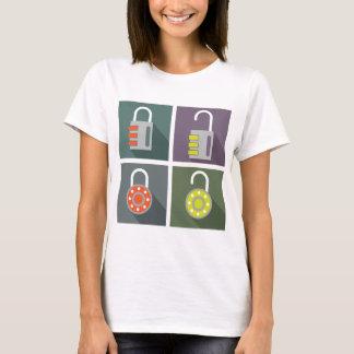 Padlock unlocked locked T-Shirt