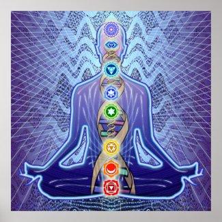 Padma Sambhava Radiant Purple Poster