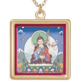 Padmasambhava Tib Guru Rinpoche square necklace