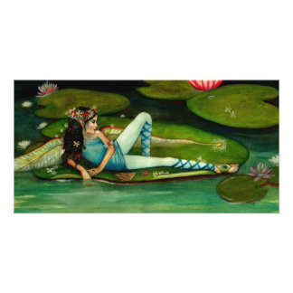 Padme the waterlily faerie by Kim Turner Picture Card