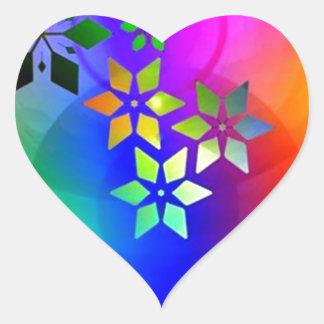 padrão abstrato com estrelas heart sticker