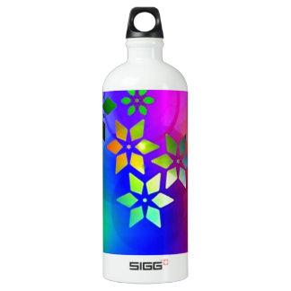 padrão abstrato com estrelas water bottle