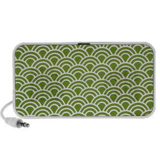 padrão abstrato em verde portable speaker