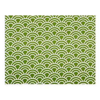 padrão abstrato em verde postcard