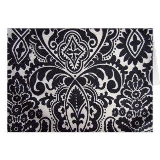 padrão abtrato a preto e branco card