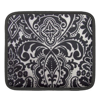 padrão abtrato a preto e branco sleeves for iPads