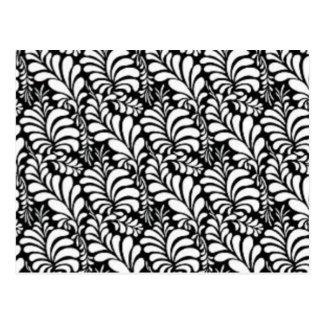 padrão abtrato em preto e branco postcard