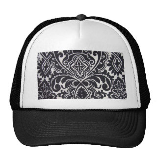 padrão abtrato preto e branco trucker hat